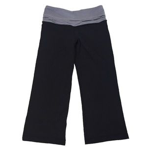 Lululemon Black Wide Leg Reversible Crops